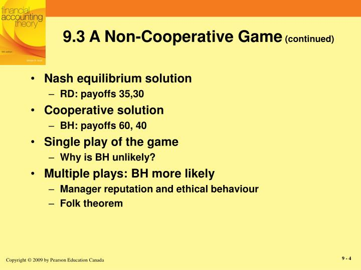 9.3 A Non-Cooperative Game