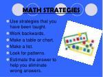 math strategies1