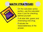 math strategies2