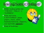 reading science strategies