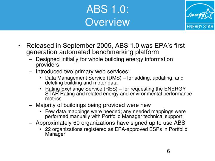 ABS 1.0: