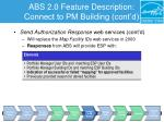 abs 2 0 feature description connect to pm building cont d3