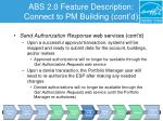 abs 2 0 feature description connect to pm building cont d4