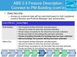 abs 2 0 feature description connect to pm building cont d6