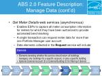 abs 2 0 feature description manage data cont d7