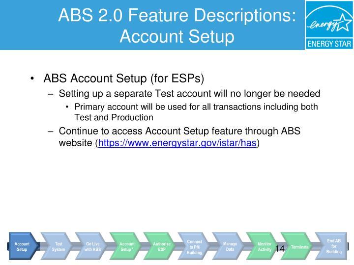 ABS 2.0 Feature Descriptions: