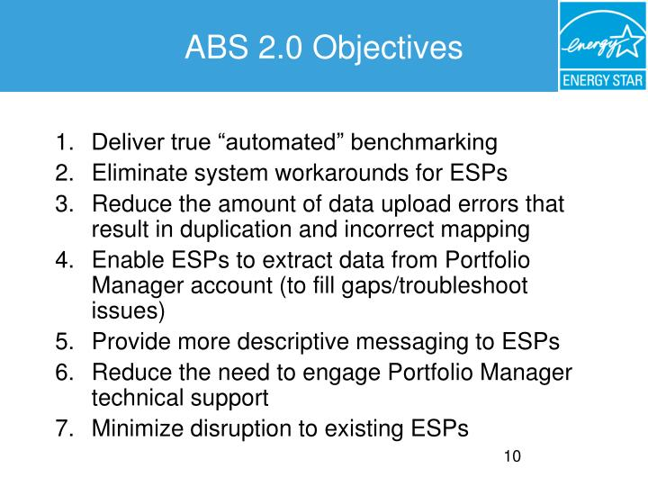 ABS 2.0 Objectives
