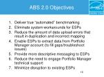 abs 2 0 objectives
