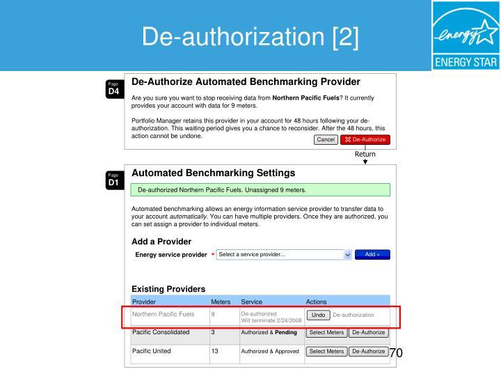 De-authorization [2]