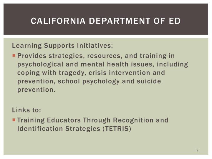 California department of