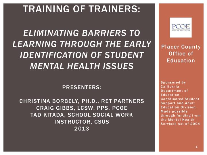 training of trainers:
