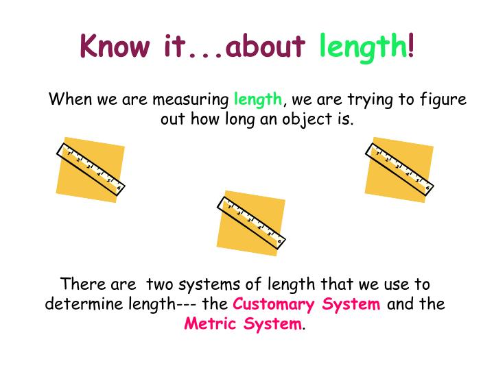 Know it about length
