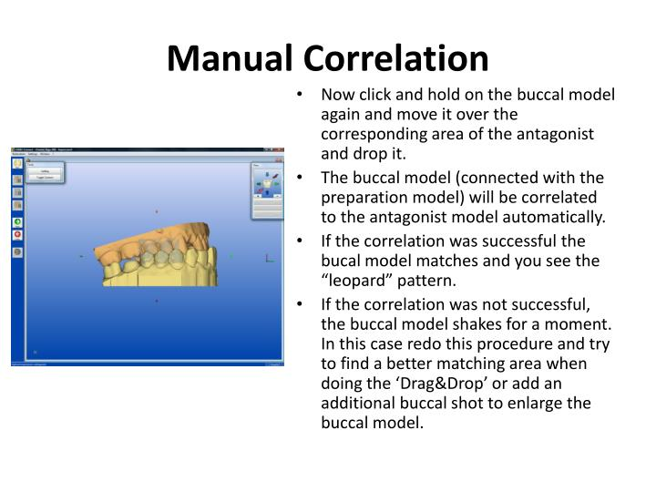 Manual Correlation