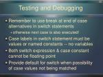 testing and debugging1