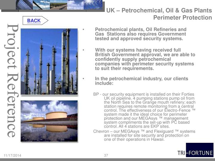 UK – Petrochemical, Oil & Gas Plants