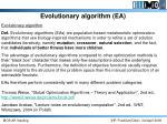 evolutionary algorithm ea