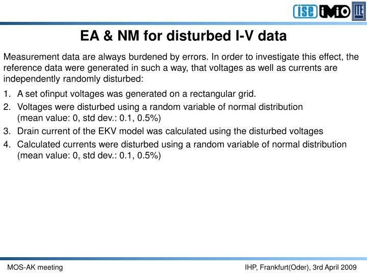 EA & NM for disturbed I-V data