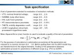 task specification1