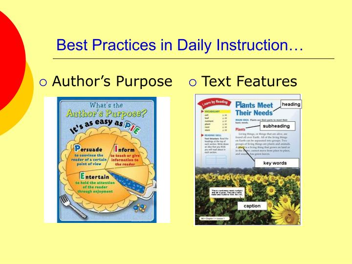 Best Practices in Daily Instruction…