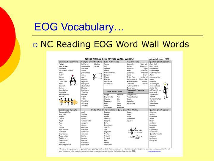 EOG Vocabulary…