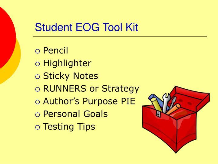 Student EOG Tool Kit