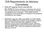 eia requirements on advisory committees