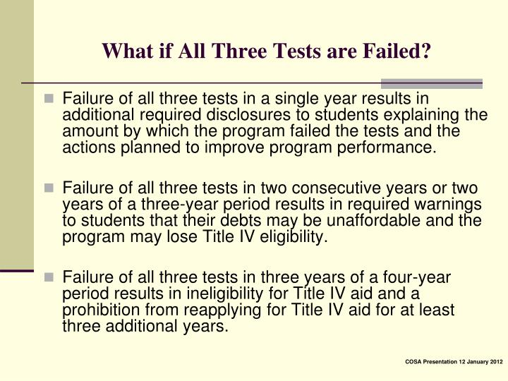 What if All Three Tests are Failed?