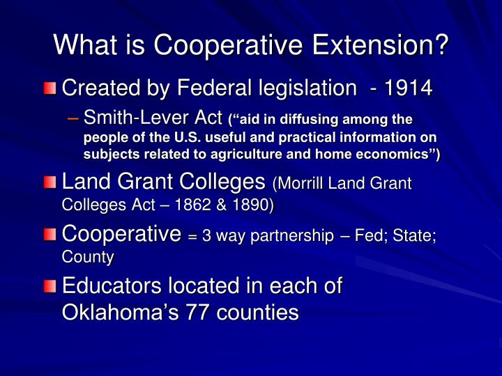 What is Cooperative Extension?