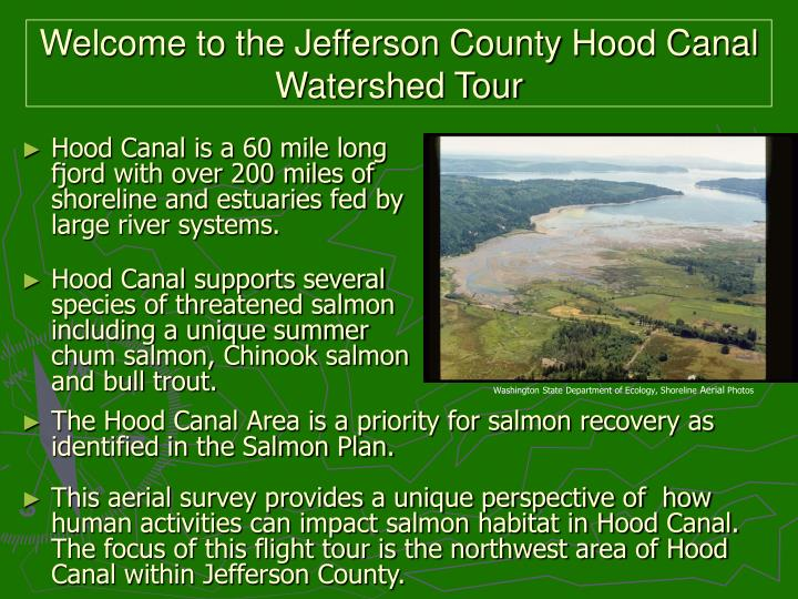 Welcome to the Jefferson County Hood Canal Watershed Tour