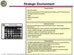 strategic environment