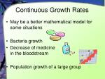 continuous growth rates
