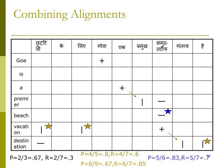 Combining Alignments
