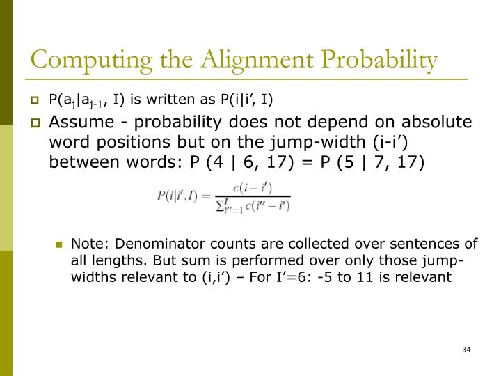 Computing the Alignment Probability