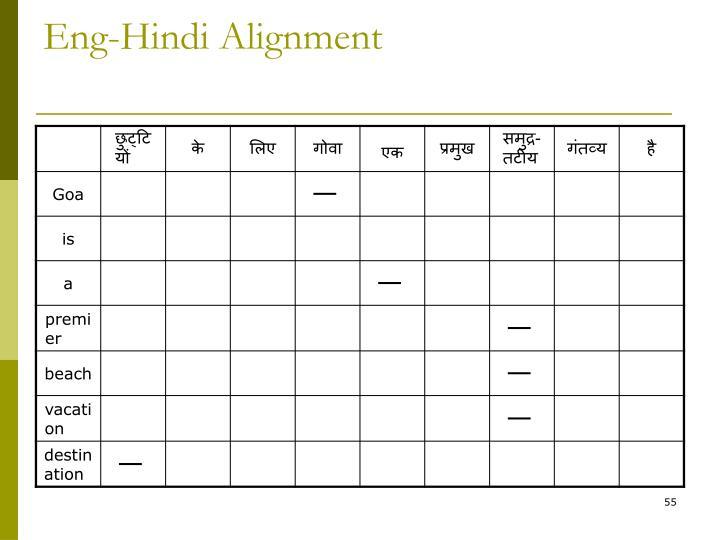 Eng-Hindi Alignment