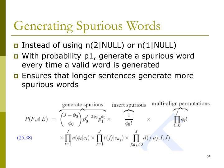 Generating Spurious Words