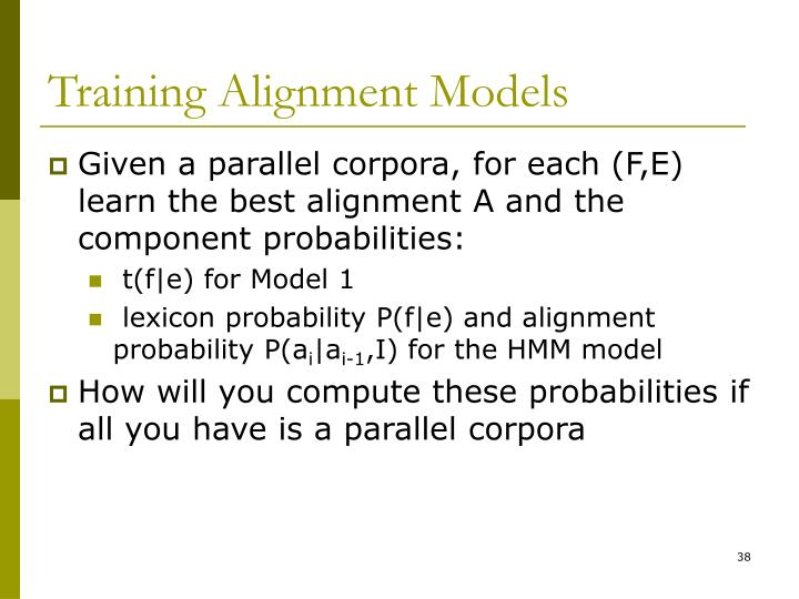 Training Alignment Models