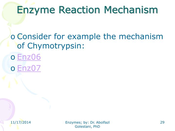 Enzyme Reaction Mechanism