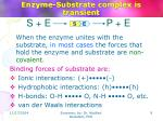 enzyme substrate complex is transient