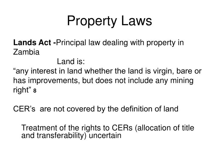 Property Laws