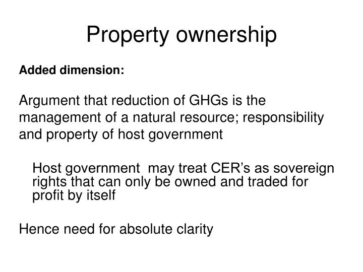 Property ownership