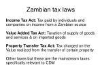 zambian tax laws