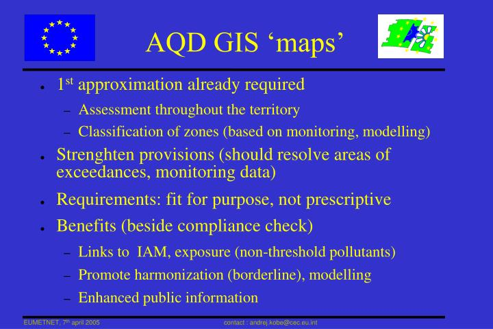 AQD GIS 'maps'