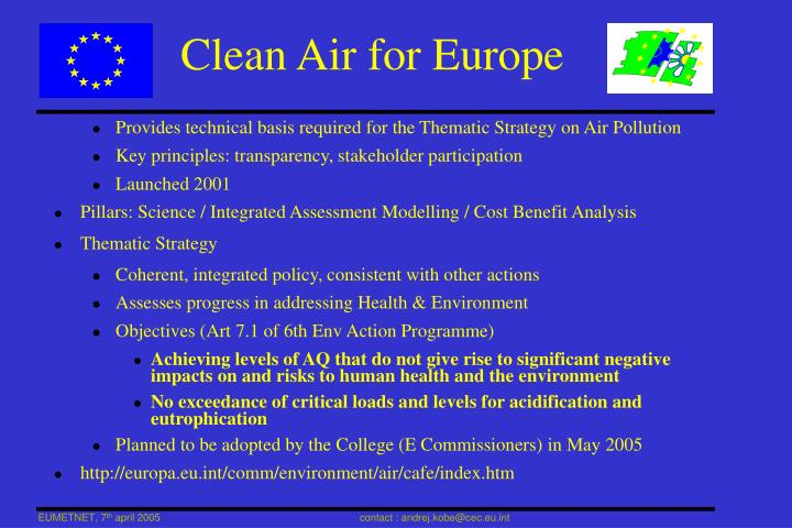 Clean Air for Europe