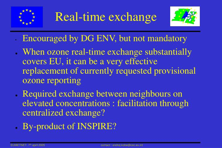 Real-time exchange