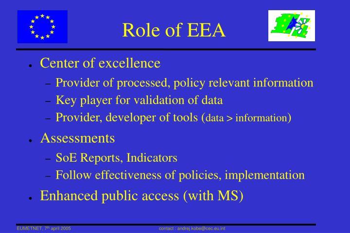 Role of EEA