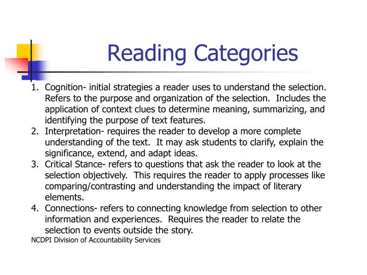 Reading Categories
