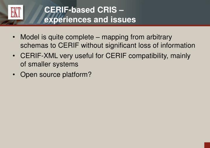 CERIF-based CRIS –