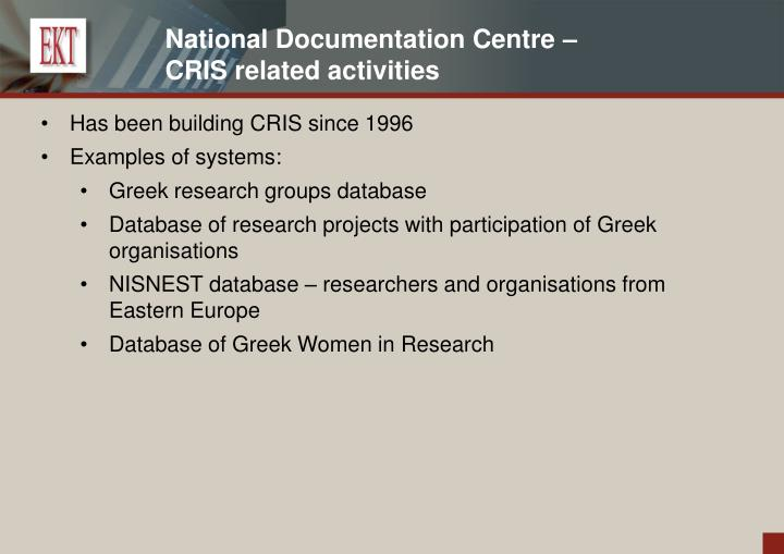 National Documentation Centre –