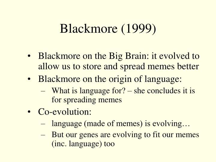 Blackmore (1999)