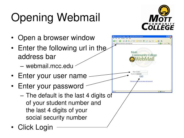 Opening Webmail
